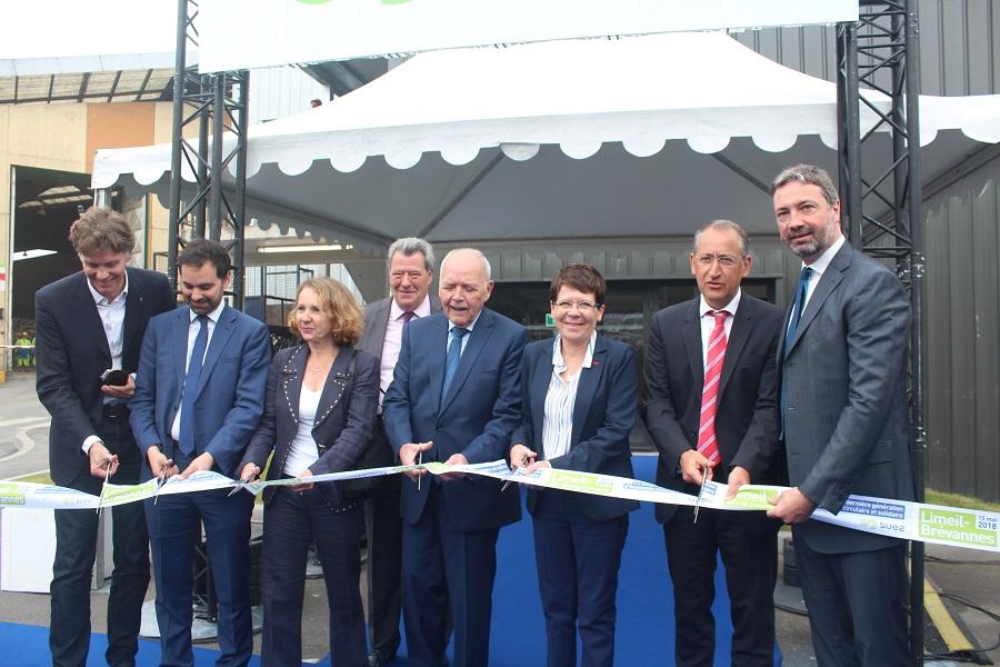 Inauguration du centre de tri Suez de Limeil