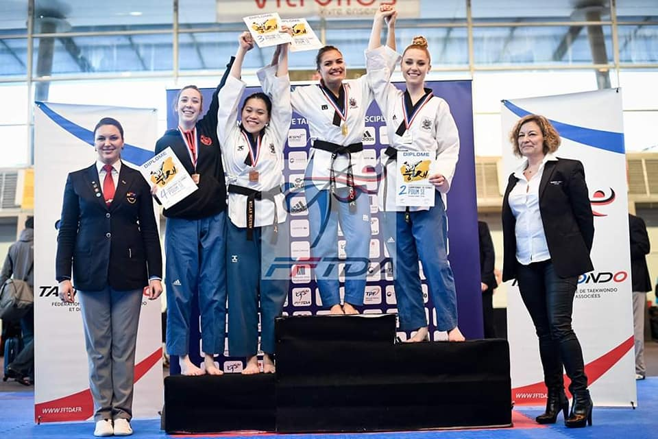 2 médailles pour Mylan Nguyen au championnat de France de taekwondo