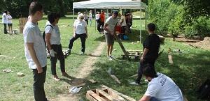 Création d'un espace détente au parc Saint-Martin