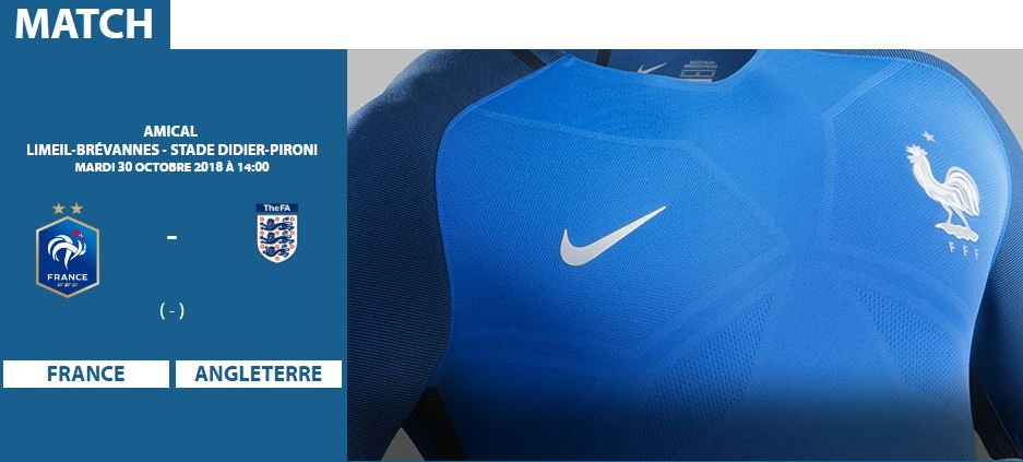 Tournoi international U16 : France - Angleterre le 30 octobre